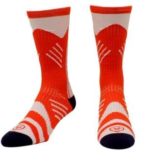 Ariat Mens Socks Mid Calf Performance Athletic L Red White A2550404
