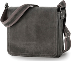 David King Leather 6111 Distressed North/South Messenger Bag