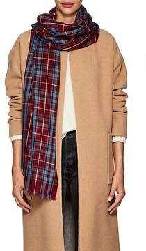 Isabel Marant Women's Valeria Checked Wool Scarf