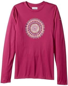 Columbia Kids Auroras Lights Long Sleeve Tee Girl's T Shirt