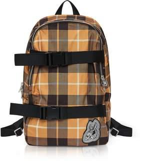 McQ Bunny Skater Yellow Tartan Nylon Clip Backpack