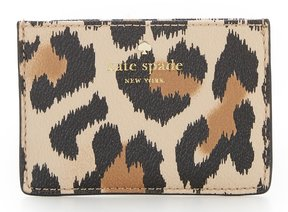Kate Spade Hyde Lane Leopard Card Holder - CLASSIC CAMEL/MULTI - STYLE
