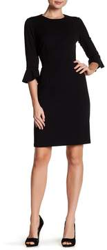 Donna Morgan Ruffle Cuff Sheath Dress