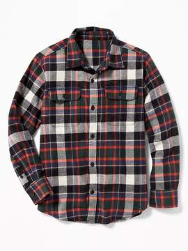 Old Navy Patterned Built-In Flex Flannel Shirt for Boys