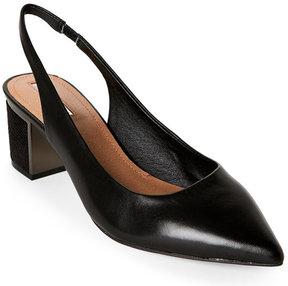 Tahari Black Roseann Pointed Toe Slingback Pumps