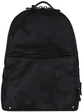 Valentino Garavani Camu Noir Nylon Backpack
