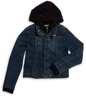 Hudson Boy's Garage Hooded Denim Jacket