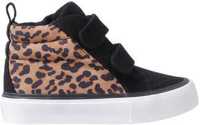 Joe Fresh Toddler Girls' Leopard Sneakers, Black (Size 10)