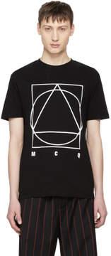 McQ Black Glyph Icon T-Shirt