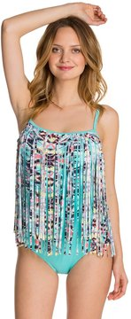 Coco Rave Wild Thing Fringe CD Cup One Piece Swimsuit 8129227
