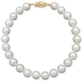 Belle de Mer Pearl Bracelet, 7-1/2 14k Gold A Cultured Freshwater Pearl Strand (6-7mm)