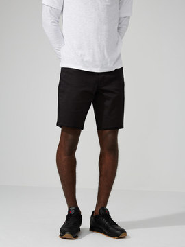 Frank and Oak The Lincoln Twill 9 Short in True Black