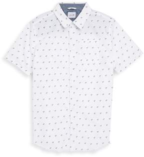 Joe's Jeans Boy's Aitor Shprt Sleeve Printed Shirt - White, Size xl (18-20)
