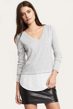Dynamite V-Neck Long Sleeve Top