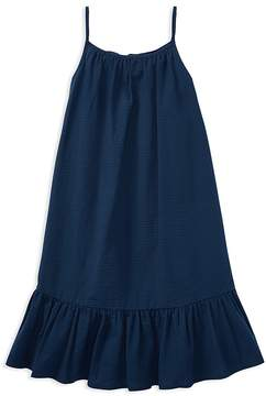 Polo Ralph Lauren Girls' Ruffled Seersucker Dress - Big Kid