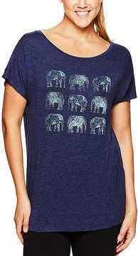 Gaiam Medieval Blue Dani Elephants Tee - Women