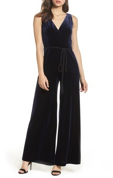 Eliza J Women's Velvet Wide Leg Jumpsuit
