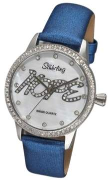 Stuhrling Original Hope 519H.1115C7 Stainless Steel & Leather MOP 38mm Watch