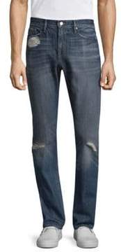 Frame L'homme Slim-Fit Distressed Jeans