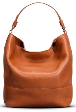 Shinola Relaxed Leather Hobo Bag - Brown