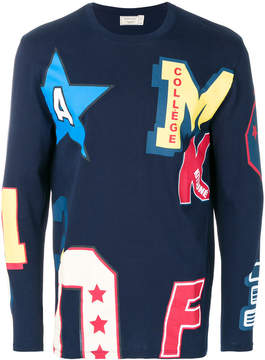MAISON KITSUNÉ all-over college print sweatshirt