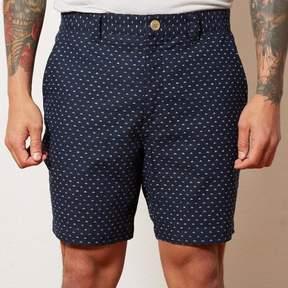 Blade + Blue Indigo Dyed Geometric Print Shorts