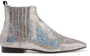 Joseph Glittered Leather Chelsea Boots