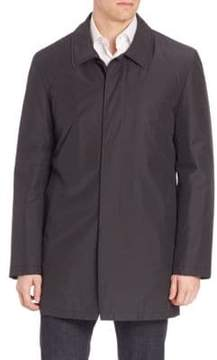 Isaia Solid Wool Blend Overcoat
