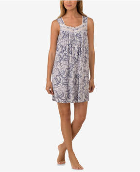 Eileen West Lace-Trimmed Paisley Nightgown
