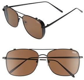 Quay Men's Weekend Warrior 60Mm Navigator Sunglasses - Black/ Brown