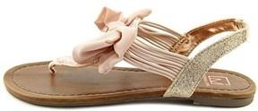 Material Girl Womens Sari Open Toe Casual Flat Sandals.