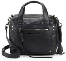 McQ Leather Double Zip Top Handle Bag