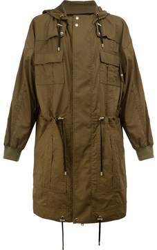 Balmain flap pocket parka coat
