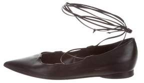 Michael Kors Leather Lace-Up Flats