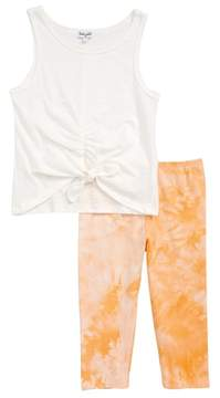 Splendid Ruched Tank & Tie Dye Leggings Set