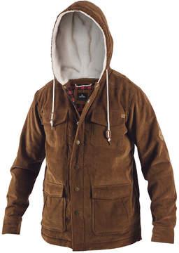 Rip Curl Men's Dawn Patrol Corduroy Jacket with Fleece-Lined Hood