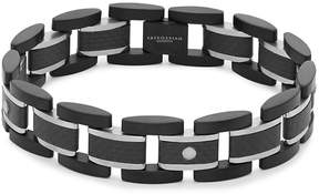 Tateossian Men's Titanium and Carbon Fiber Link Bracelet