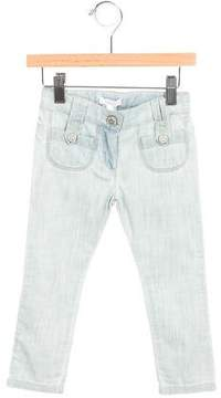 Chloé Girls' Straight-Leg Mid-Rise Jeans w/ Tags