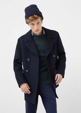 Mango Outlet Buttons wool peacoat