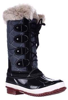 Khombu Womens Melanie Leather Closed Toe Mid-calf Cold Weather Boots.