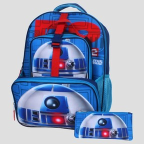 Star Wars R2D2 16 Kids' Backpack with Detachable Lunch Tote & Pencil Case