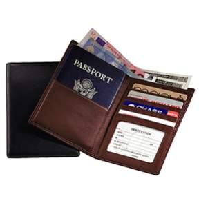 Royce Leather Rfid Blocking American Leather Passport Wallet.