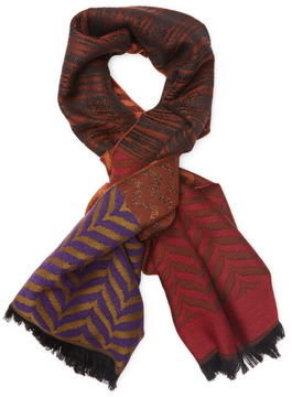 Missoni Men's Wool Fringe Long Scarf