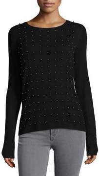 T Tahari Ribbed Crewneck Sweater