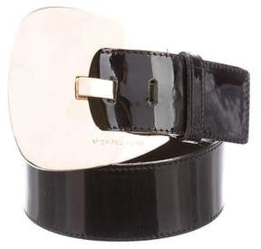Michael Kors Patent Leather Waist Belt