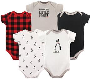 Hudson Baby Gray Penguin Bodysuit Set - Newborn & Infant