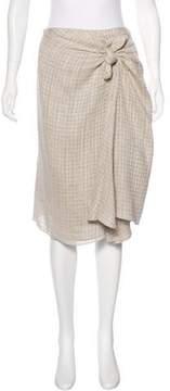 Brock Collection Bow-Accented Linen Skirt
