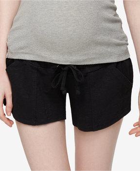 A Pea in the Pod Drawstring Maternity Shorts