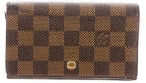 Louis Vuitton Damier Ebene Porte-Monnaie Trésor Wallet