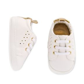 Carter's Baby Girl Perforated White Sneaker Crib Shoes
